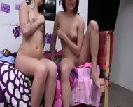 Two Amateur Girls Copulating With Young Guy - scene 1
