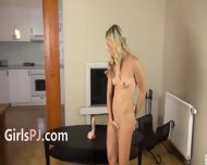 Sweet Blondie On Tv Table - scene 4