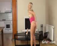 Sweet Blondie On Tv Table - scene 2