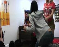 Three Delicate Young Girls Enjoying Groupsex - scene 1