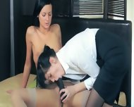 Fine Babes In Pants Enjoying Strap - scene 6