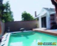 Lesbo Step Teens Outside - scene 12