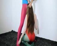 Hairy Lesbians In Nylon Pants Deepfucking - scene 8