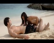 Extremely Hot Lovers Bang On The Beach - scene 3