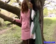 Two British Matures In Lingerie Dyke Fun - scene 2