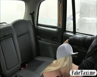 Skanky Big Boobs Customer Fucked With Fake Driver In The Cab - scene 3