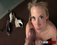 Taboo Step Teen Footjob - scene 9