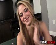 Taboo Step Teen Footjob - scene 2