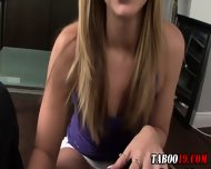 Taboo Step Teen Footjob - scene 3