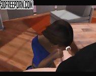 Interracial Blowjob - scene 1