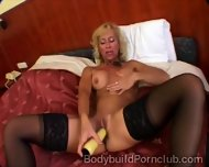 Naugthy Mature Blonde With Fitness Body Drills Her Pussy - scene 4