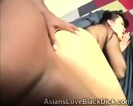 Sweet Oriental Slut Gets Break In Twice By A Massive Chocolate Cock - scene 9