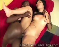 Sweet Oriental Slut Gets Break In Twice By A Massive Chocolate Cock - scene 5