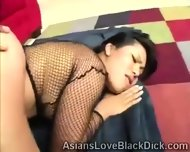 Sweet Oriental Slut Gets Break In Twice By A Massive Chocolate Cock - scene 7