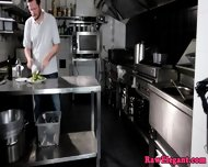 Beautiful Chef Babe Assfucked In The Kitchen - scene 1