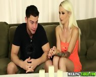 Hot Blonde Masseuse Jerks - scene 1