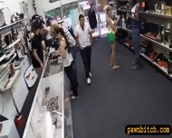 Black Bf Pawning Her Girlfriends Pussy At The Pawnshop - scene 1