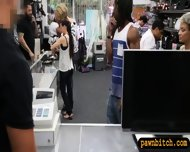 Black Bf Pawning Her Girlfriends Pussy At The Pawnshop - scene 2