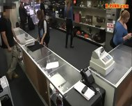 Nerd Student Sells Her Books And Her Twat At The Pawnshop - scene 1
