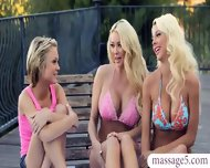 Two Blondes Turned A Massage Session Into A Lesbian Fun - scene 1