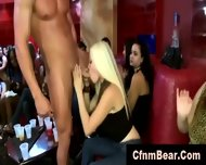 Horny Cfnm Babes Sucking Stripper Cock At A Party - scene 3