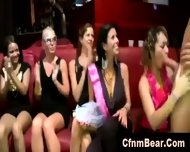Horny Cfnm Babes Sucking Stripper Cock At A Party - scene 4