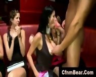 Horny Cfnm Babes Sucking Stripper Cock At A Party - scene 6