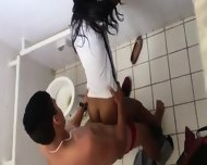 Couple Caught In Bathroom - scene 2