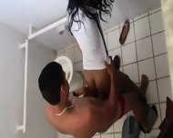 Couple Caught In Bathroom - scene 3