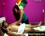 Hot Asian Masseuse On Spycam Rubbing Guy - scene 9