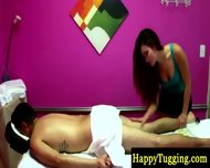Hot Asian Masseuse On Spycam Rubbing Guy - scene 2
