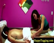 Hot Asian Masseuse On Spycam Rubbing Guy - scene 4