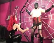 Mistress Melissa Whips Crossdresser Slave - scene 1