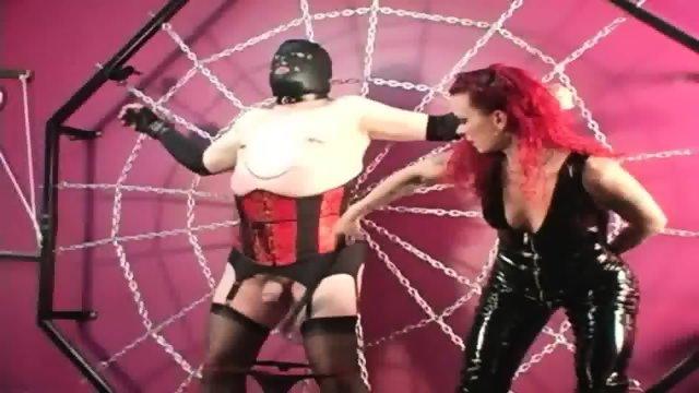 Mistress Melissa Whips Crossdresser Slave