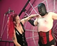 Mistress Melissa Whips Crossdresser Slave - scene 6