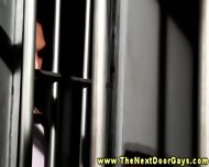 Gay Athletic Jocks Sucking In Jail - scene 3