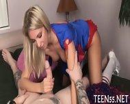 Beautiful Teen Meets A Cock - scene 3