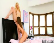 Aubrey Star And Charlotte Stokely Making Out On The Bed - scene 11
