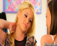 Aubrey Star And Charlotte Stokely Making Out On The Bed - scene 3