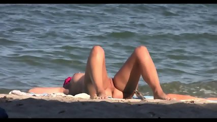 Sexy Nudist Babes Tanning Naked At The Beach - scene 9