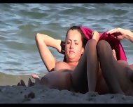 Sexy Nudist Babes Tanning Naked At The Beach - scene 12