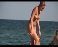 Sexy Nudist Babes Tanning Naked At The Beach - scene 2