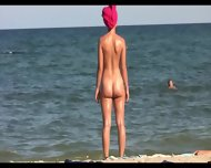 Sexy Nudist Babes Tanning Naked At The Beach - scene 7