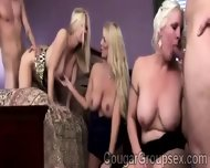 3 Big Stacked Blonde Cougars Share 2 Huge Hard Dongs - scene 10