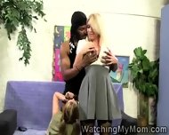 Blonde Milf Gives Blowjob Lessons To Her Young Daughter - scene 8