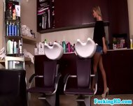 Attractive Euro Babes Plan Salon Threeway - scene 1