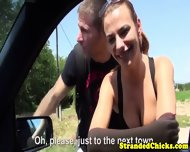 Hitchhicking Couple Fuck While Driver Films - scene 1