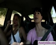 Jessie Andreews And Dana Dearmond Lick N Rub Pussies In Car - scene 2