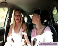 Jessie Andreews And Dana Dearmond Lick N Rub Pussies In Car - scene 3