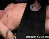 Femdom Handjob In Bondage Mechanism - scene 6